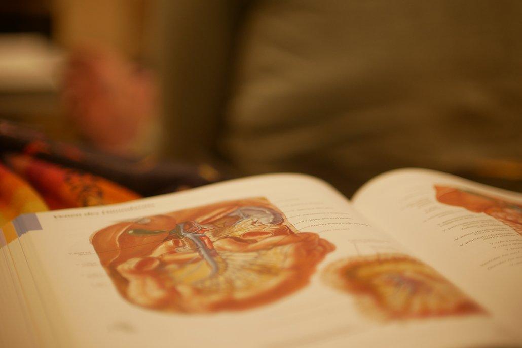 Blick in ein Lehrbuch