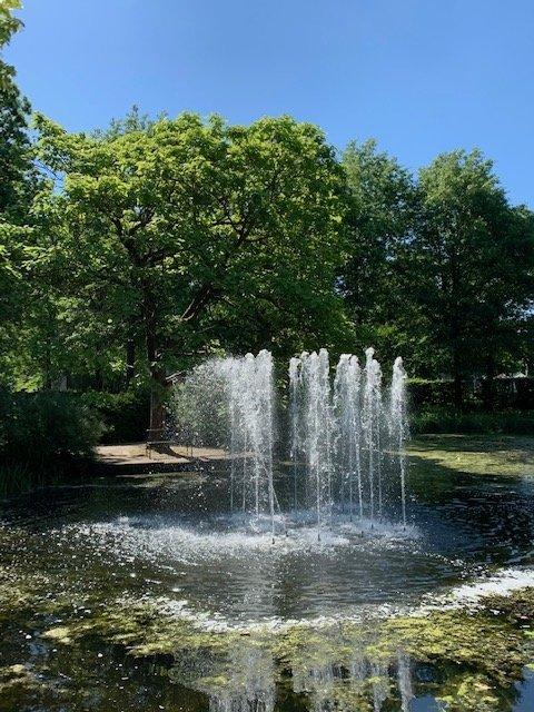 Wasserfontaene als Verbildlichung für Leben ist Bewegung im Sinne A.T. Stills