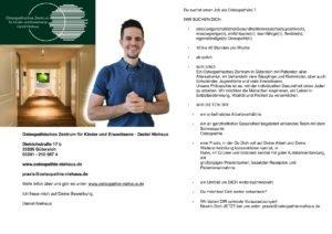 Osteopath:in in Guetersloh gesucht
